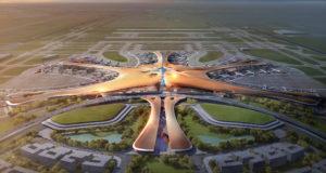 Az új repülőtér látványterve. Illusztráció: Bloomberg