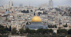 Jeruzsálem, 2017. december 6. Jeruzsálem óvárosa 2017. december 6-án. Donald Trump amerikai elnök ezen a napon várhatóan bejelenti, hogy az Egyesült Államok elismeri Jeruzsálemet Izrael fővárosának. (MTI/EPA/Atef Szafadi)