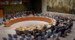 New York, 2018. január 18. Az ENSZ Biztonsági Tanácsának ülése a világszervezet New York-i székházában 2018. január 18-án. (MTI/AP/Bebeto Matthews)