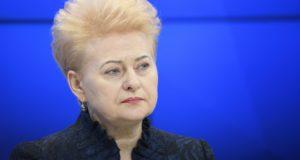 Dalia Grybauskaite, litván elnökasszony a Davos-i Világgazdasági Fórumon 2018. január 26-án.  EPA/GIAN EHRENZELLER