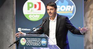 Milánó, 2018. január 14. Matteo Renzi volt olasz miniszterelnök, a Demokrata Párt (PD) főtitkára a Lombardiai tartományi elnökválasztás kampányeseményén beszél Milánóban 2018. január 14-én. Két tartományban, Lazióban és Lombardiában március 4-én lesz választás, ugyanazon a napon, amikor az olasz parlamenti választásokat is tartják. (MTI/EPA/Flavio Lo Scalzo)