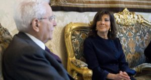 epa06676589 A handout photo made available by the Quirinal Palace Press Office shows Italian President Sergio Mattarella (L) meeting with newly elected Senate Speaker Maria Elisabetta Alberti Casellati at the Quirinal Palace in Rome, Italy, 18 April 2018. Mattarella announced the assignment of an exploratory mandate to Casellati in order to seek ways to end Italy's post-election political deadlock. Italy does not look close to having a new government a month and a half after its inconclusive election on 04 March.  EPA/PAOLO GIANDOTTI/QUIRINAL PALACE PRESS OFFICE - F HANDOUT  HANDOUT EDITORIAL USE ONLY/NO SALES