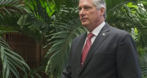 2016. március 21-én, Havannában készült kép Miguel Díaz-Canel kubai alelnökről. Miguel Díaz-Canelt a karibi ország új elnökének választották 2018. április 19-én. (MTI/EPA/Michael Reynolds)